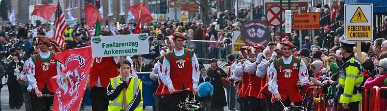 Der FZA bei der St. Patrick's Day Parade in Limerick 2013