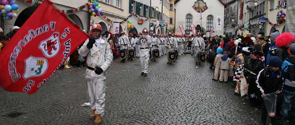 Fanfarenzug Ankenreute beim Umzug in Feldkirch