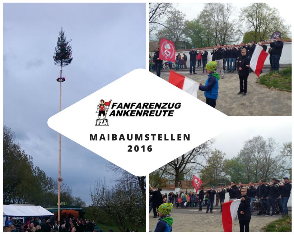 FZ Ankenreute spielt beim Maibaumstellen 2016