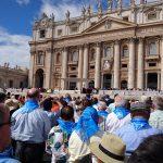 Besuch der Generalaudienz des Papstes