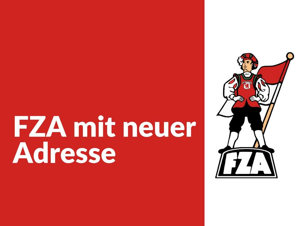 FZA mit neuer Adresse