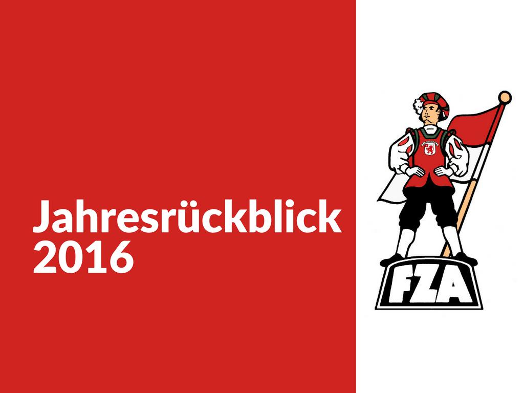 FZA Jahresrückblick 2016