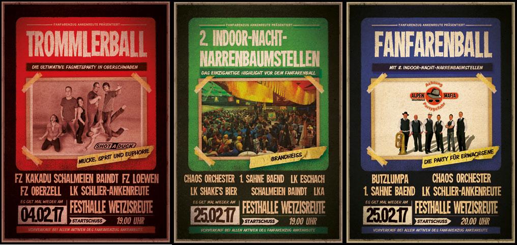 Event Plakat FZA Trommlerball und Fanfarenball 2017