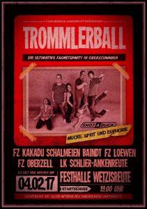 Trommlerball 2017 Plakat