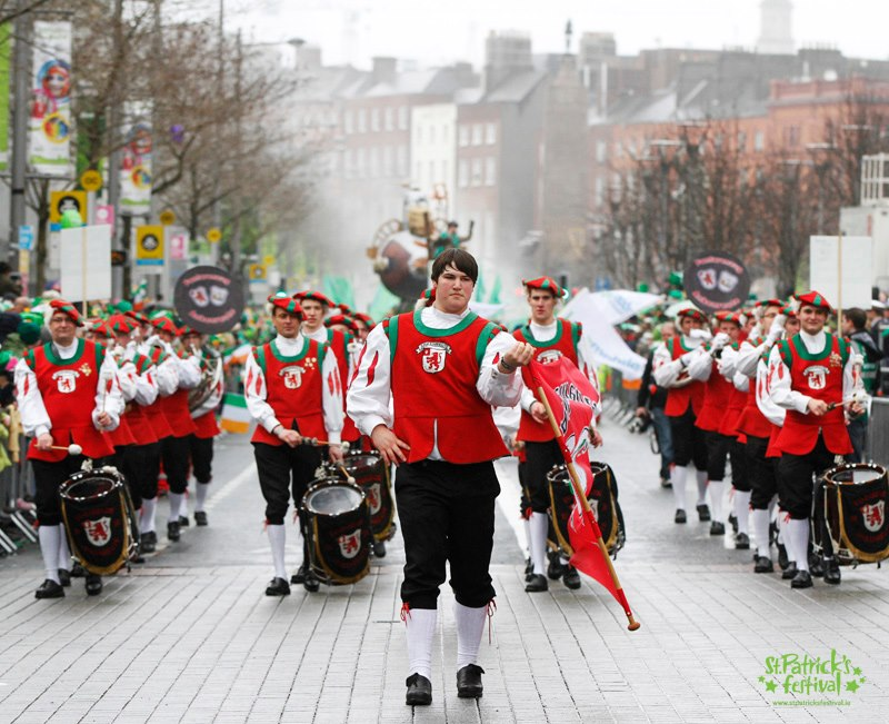 Der Fanfarenzug Ankenreute auf dem St. Patrick's Day in Dublin 2013