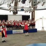 Der Fanfarenzug Ankenreute bei der EXPO in Hannover im Jahr 2000