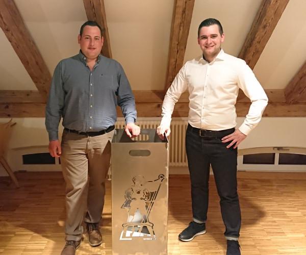 Stabwechsel beim Fanfarenzug Ankenreute: Matthias Schwegler beerbt Joachim Kreh